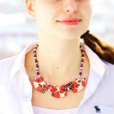 Flower Bridge Necklace (Poppy) Poppy, Bridge, Necklaces, Flowers, Jewelry, Jewellery Making, Chain, Floral, Mac