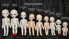 Tiny BJD comparisons Tiny Dolls, Bjd Dolls, Doll Toys, Doll Parts, Art Challenge, Ball Jointed Dolls, Miniature Dolls, Monster High, Creative Art