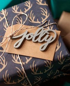 Jolly Hand Lettered Christmas Gift Tag available at http://peppersprouts.com