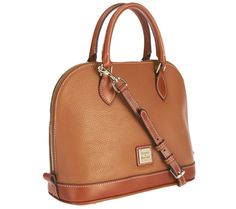 Stay polished with this elegant pebble leather bag. Interior pockets and a top zipper closure keep your belongings secure, and a detachable shoulder strap lets you switch up your look whenever you want. QVC.com