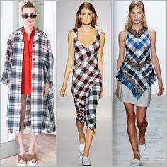 Trend Alert at New York Fashion Week #SS16: Plaid print for spring and summer. Isa Arfen, Victoria Beckham, and Wes Gordon Spring Summer 2016 #NYFW #Spring2016