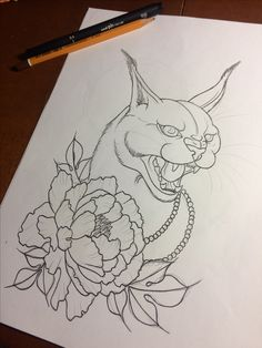 Caracal tattoo project