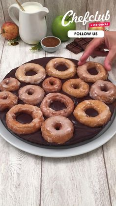 Apple Recipes, Snack Recipes, Dessert Recipes, Gluten Free Donuts, Buzzfeed Tasty, Chocolate Donuts, Crazy Cakes, Breakfast Dessert, Fun Desserts