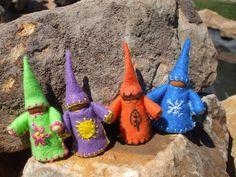 Winter, Spring, Summer, and Fall, Waldorf Gnomes.