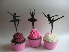Cute dancing cupcakes. Perfect for parties.