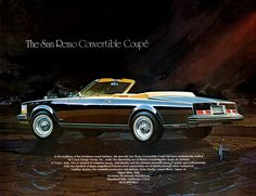 Cadillac San Remo ad; a very rare custom convertible based on the '75-'79 Seville.