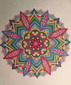 ColorIt Mandalas to Color Volume 1 Colorist: Karen Beavers #adultcoloring #coloringforadults #mandalas #mandala #coloringpages