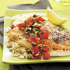 Squeeze a lemon wedge over the fish before drizzling with olive oil to tie together the components of this dish. Any thin white fillets, such as sole or flounder, can be substituted for tilapia. Prep: 3 minutes; Cook: 9 minutes