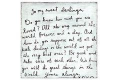 To My Sweet Darlings, 12x12 on OneKingsLane.com