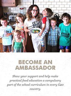 Become an ambassador! #FoodRevolutionDay