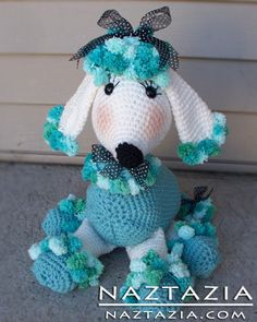 Free Pattern - Crochet Poodle Dog Toy Amigurumi