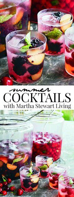 Summer Cocktails with Martha Stewart Living