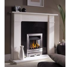 eko 3020 gas fire / Gas Fires Electric Fires Stoves Marble Fireplaces / Fireplaces and Fire Accessories Inset Fireplace, Limestone Fireplace, Fireplace Surrounds, Fireplace Design, Fireplace Ideas, Marble Fireplaces, Living Room With Fireplace, Living Room Grey, Living Room Decor