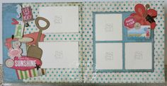 layout by Joanne Walton using CTMH Seaside paper.... (pinned straight from her pin board... NO BLOG)