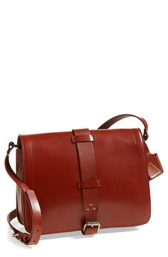 Classic style and classic color. This 'Courier' leather crossbody bag is timeless.