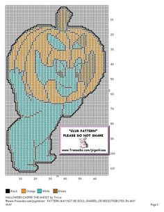 HALLOWEEN CASPER THE GHOST by TRICIA -- WALL HANGING