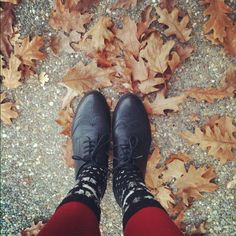 oxfords, knee socks + tights