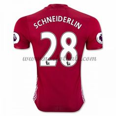 Billige Fotballdrakter Manchester United 2016-17 Schneiderlin 28 Hjemme Draktsett Kortermet Manchester United Trikot, Premier League, The Unit, Club, Sports, Shopping, Tops, Fashion, Soccer Jerseys