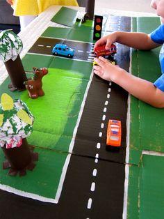 Cardboard Box Fun: Hot Wheels Racetrack Kids Activities and Crafts,#crafting,#kids,#activities