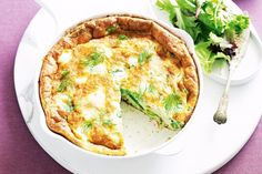 Go vego with this simple and elegant asparagus and goat's cheese frittata.