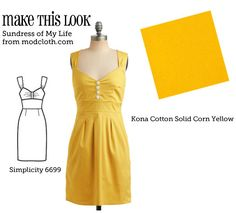#DIY #Tutorial - Make This Look: Sundress of My Life from modcloth.com