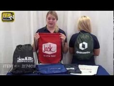 Promotional Drawstring Backpacks for Schools - How to Buy? Our Girls did a great job with this video!!