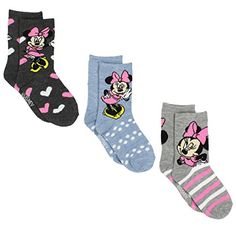 Disney Minnie Mouse Girls 3 pack Socks (Toddler/Little Kid/Big Kid) Toddler Girl Outfits, Toddler Shoes, Minnie Mouse Images, Mickey Mouse, Diaper Bag, Pbs Kids, Girls Socks, Birthday Gifts For Girls, Disney Fun