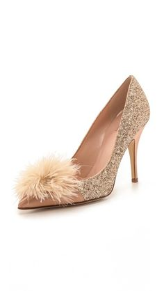 Kate Spade New York Lilo Marabou Glitter Pumps