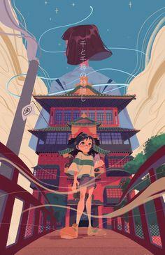 Bookmarks / Twitter Spirited Away Art, Spirited Away Wallpaper, Studio Ghibli Art, Studio Ghibli Movies, Cute Cartoon Wallpapers, Animes Wallpapers, Totoro, Personajes Studio Ghibli, Film Anime