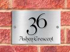 00095 | A5 | Designer House Sign Plaque | Penshurst Font