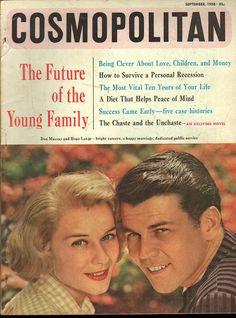 Cosmopolitan magazine, SEPTEMBER 1958 Hope Lange & Don Murray on cover