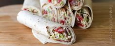 BLT Wraps feature crisp bacon, juicy grape tomatoes, shredded lettuce, and a special sauce (NOT mayo)