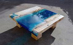 Caribbean-based designer Alexandre Chapelin is expanding his Lagoon series with some new one-of-a-kind pieces produced using marble and resin.  More furniture design Visit his website