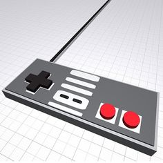 Excellent retrogaming game controller made by our friend @ashley.pavlovic of @chainbridgeforge3dprinter. Would be cool to print it in elastic filament, fashion buttons out of #playdoh and hook up a #makeymakey!