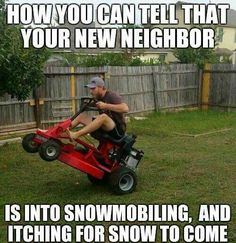 Us, and everyone in Summit County. Amirite?! #snowmobile #winteriscoming…