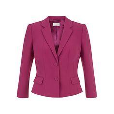 Buy Hobbs Vivien Jacket, Dark Pink Online at johnlewis.com