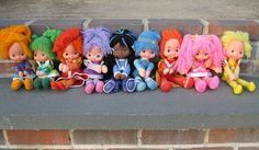 1984 Rainbow Brite Dolls.  i had Rainbow Brite, Patty O'Green, Indigo & the pink one...