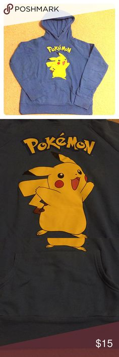 Pikachu Hoodie Lightweight Pikachu hoodie for all the Pokémon lovers out there! Has a front pocket and soft lining for comfortability. Only worn a couple times just not a hoodie person cut a tad small. Pokemon Tops Sweatshirts & Hoodies