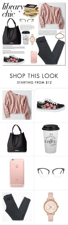 """""""Studying at the library"""" by pengy-vanou on Polyvore featuring American Eagle Outfitters, Vans, Miu Miu, Acne Studios, Ted Baker, Monica Vinader and librarychic"""