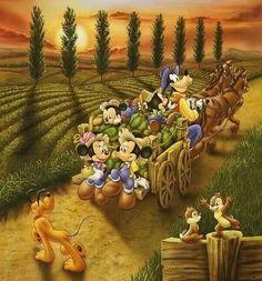 Disney Fall Wagon