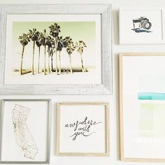 Start California dreaming with a curated gallery wall from Minted. Image courtesy of @mckennableu.