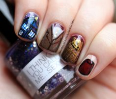 Doctor Who Nails (5) by Samarium's Swatches, via Flickr