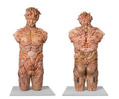 Freya Jobbins sculpture of Zeus, using doll parts.