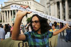Demonstrators in lower Manhattan protest against Israel's recent military campaign in Gaza on July 24, 2014 in New York City. | Its Palestine Not Israel