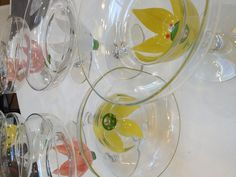 Hand painted - Margarita Glasses - Margarita Glasses, Project Ideas, Projects, Easy Gifts, Modern House Design, Holiday Ideas, Parties, Hand Painted, Wine