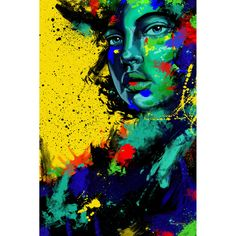 00c7c848fdf6 Maxwell Dickson  Blue Eye Girl  Canvas Wall Art (245 CAD) ❤ liked