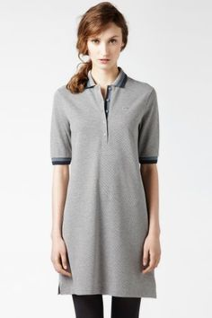 Lacoste Half Sleeve Tipped Supple Pique Polo Dress : Just Added