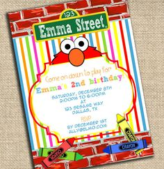 Elmos party cricut cartridge ideas irishs party pinterest sesame street elmo invitation printable by ablissfulnestshop 1500 solutioingenieria Choice Image