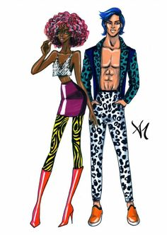 Couple Stereotypes- 'The Party Animals' #FashionIllustrations @armandmehidri| Be Inspirational❥|Mz. Manerz: Being well dressed is a beautiful form of confidence, happiness & politeness