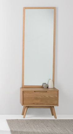 Jenson Storage Mirror, Oak